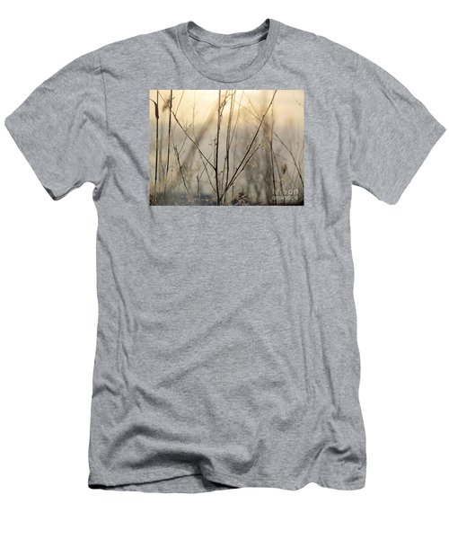 Men's T-Shirt (Slim Fit) featuring the photograph Wildflowers Winter by France Laliberte