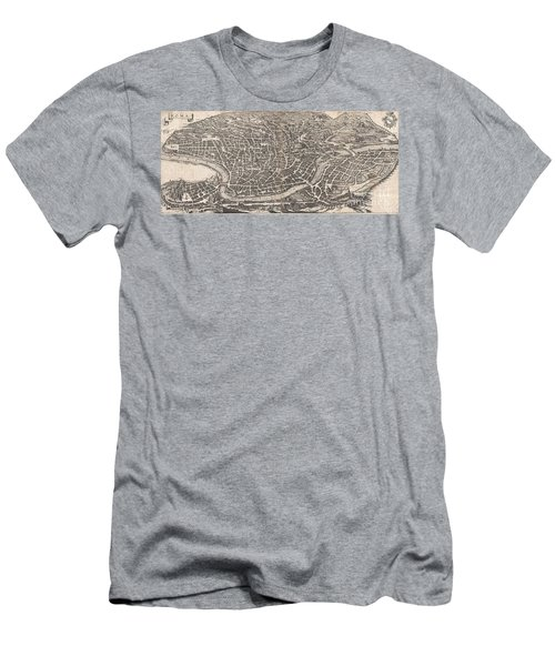 1652 Merian Panoramic View Or Map Of Rome Italy Men's T-Shirt (Athletic Fit)