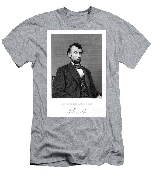 1800s 1860s 1865 Portrait Of Abraham Men's T-Shirt (Athletic Fit)