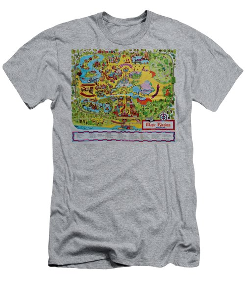 1971 Original Map Of The Magic Kingdom Men's T-Shirt (Athletic Fit)