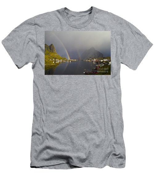 After The Rain In Reine Men's T-Shirt (Athletic Fit)