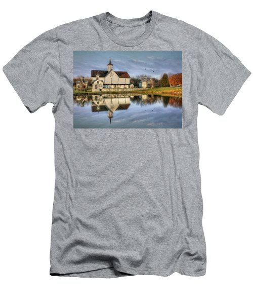Afternoon At The Star Barn Men's T-Shirt (Slim Fit) by Lori Deiter
