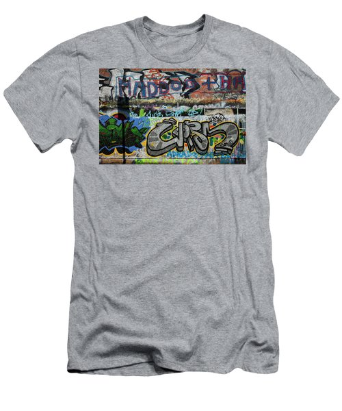 Artistic Graffiti On The U2 Wall Men's T-Shirt (Slim Fit) by Panoramic Images