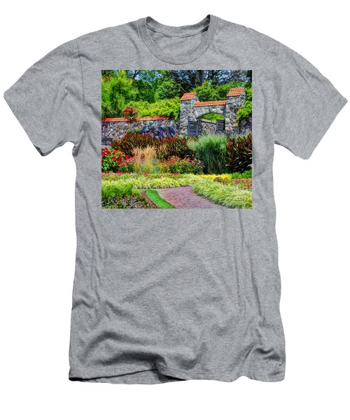 Biltmore Gardens Men's T-Shirt (Slim Fit) by Savannah Gibbs
