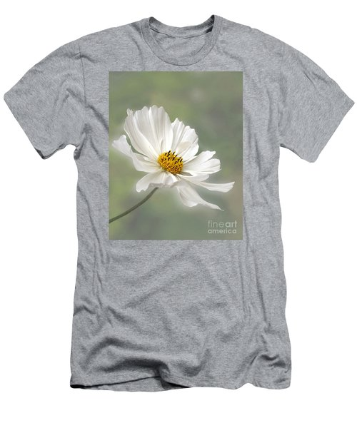 Cosmos Flower In White Men's T-Shirt (Athletic Fit)