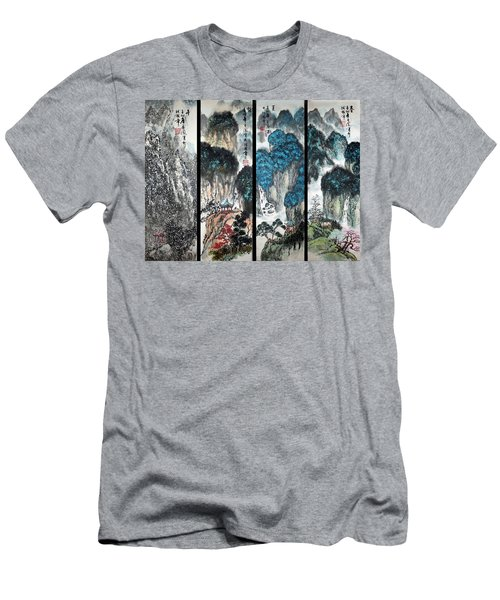 Four Seasons In Harmony Men's T-Shirt (Slim Fit) by Yufeng Wang