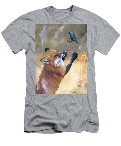 Fox Dances For Hummingbird Men's T-Shirt (Athletic Fit)