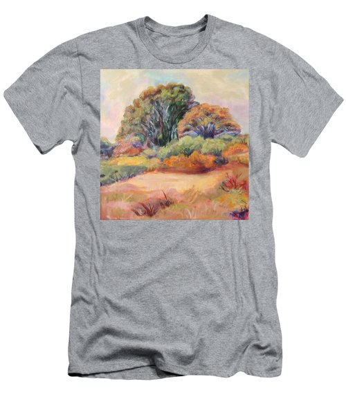 Men's T-Shirt (Slim Fit) featuring the painting Henry's Backyard by Patricia Piffath