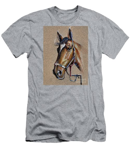 Horse Face - Drawing  Men's T-Shirt (Athletic Fit)
