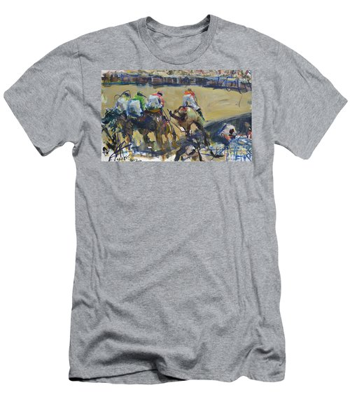 Horse Racing Painting Men's T-Shirt (Athletic Fit)