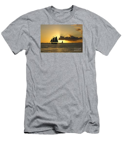 Men's T-Shirt (Slim Fit) featuring the photograph Key West Sunset by Olga Hamilton