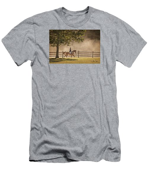 Last Ride Of The Day Men's T-Shirt (Slim Fit) by Joan Davis