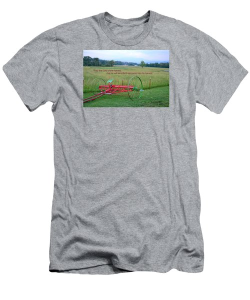 Men's T-Shirt (Slim Fit) featuring the photograph Lord Of The Harvest by Larry Bishop