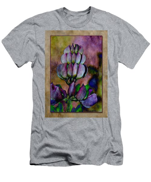 Men's T-Shirt (Slim Fit) featuring the photograph Lupin Blossom by WB Johnston