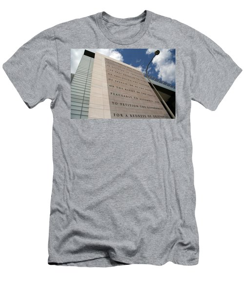 Men's T-Shirt (Slim Fit) featuring the photograph The Newseum by Cora Wandel