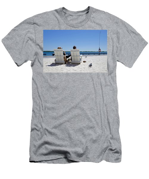 On The Waterfront Men's T-Shirt (Slim Fit) by Keith Armstrong