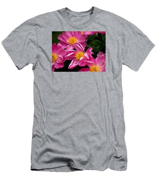 Pink Petals Men's T-Shirt (Slim Fit) by Eunice Miller