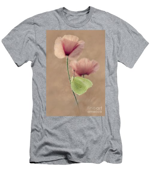 Men's T-Shirt (Athletic Fit) featuring the photograph Poppies by Jaroslaw Blaminsky