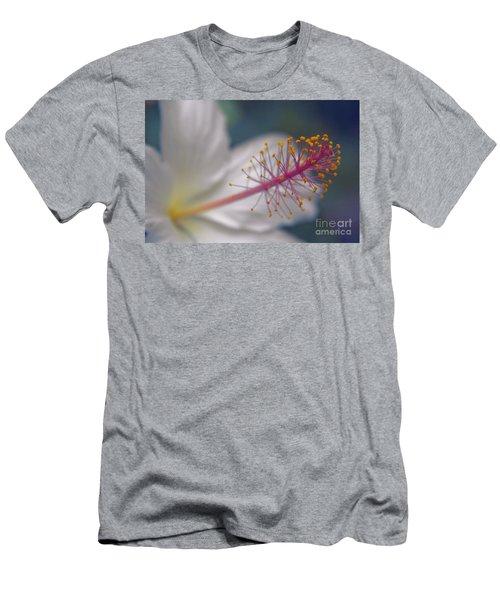 Men's T-Shirt (Athletic Fit) featuring the photograph Pua Aloalo - Koki'o Ke'oke'o - Hibiscus Arnottianus - Hawaiian White Hibiscus  by Sharon Mau