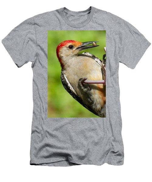 Red Bellied Woodpecker Men's T-Shirt (Slim Fit) by Robert L Jackson
