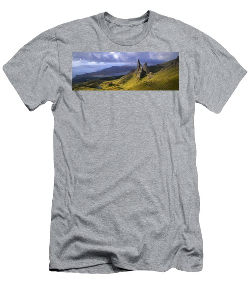 Rock Formations On Hill, Old Man Men's T-Shirt (Athletic Fit)