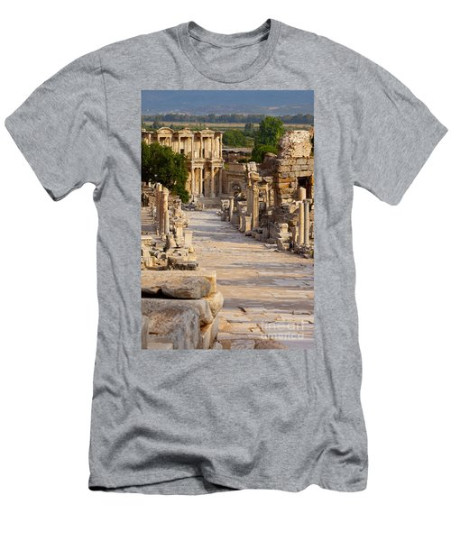 Men's T-Shirt (Athletic Fit) featuring the photograph Ruins Of Ephesus by Brian Jannsen