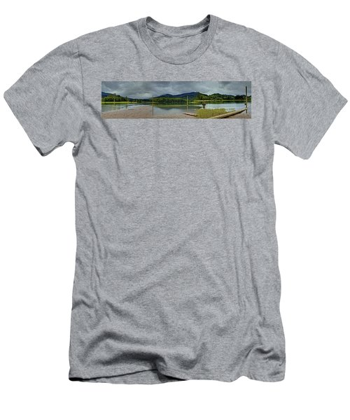 Sunny Beach Point Men's T-Shirt (Athletic Fit)