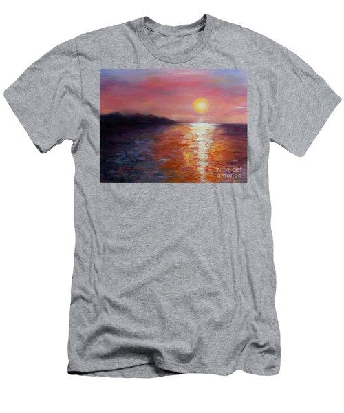 Sunset In Ixtapa Men's T-Shirt (Slim Fit) by Marlene Book