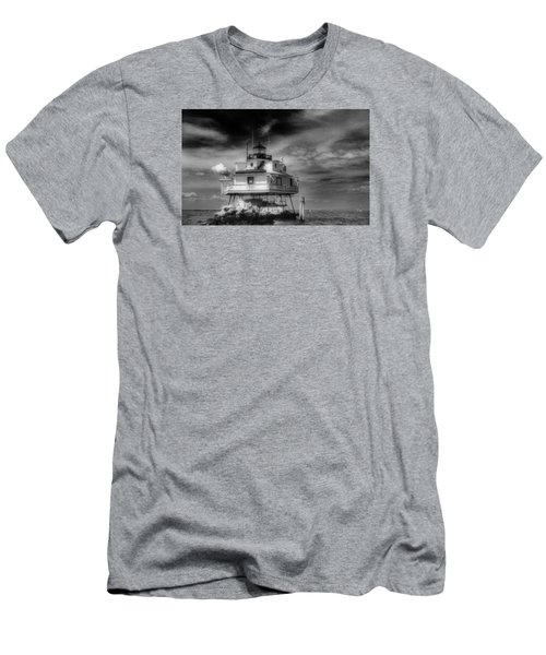 Thomas Point Shoal Lighthouse Men's T-Shirt (Slim Fit) by Skip Willits
