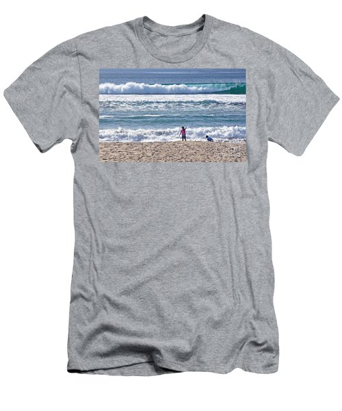 Men's T-Shirt (Slim Fit) featuring the photograph Thundering Waves by Susan Wiedmann