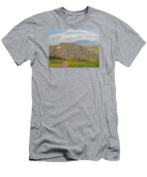 Tucumcari Mountain Reflections On Route 66 Men's T-Shirt (Slim Fit) by Sheri Keith