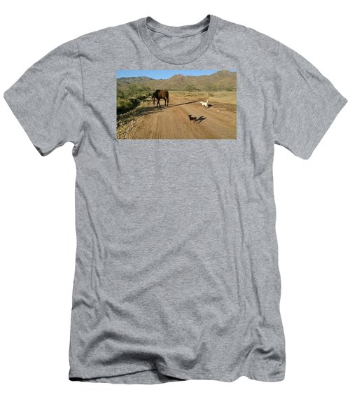 Three Friends On The Range Men's T-Shirt (Athletic Fit)
