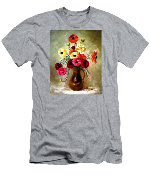 Men's T-Shirt (Slim Fit) featuring the painting Basking In The Light by Hazel Holland