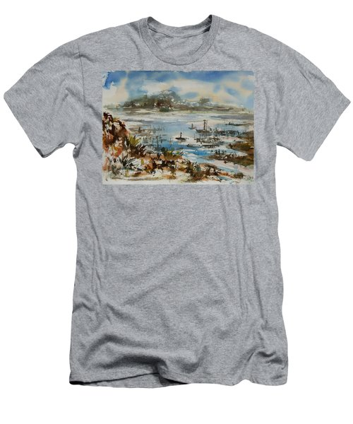 Men's T-Shirt (Slim Fit) featuring the painting Bay Scene by Xueling Zou