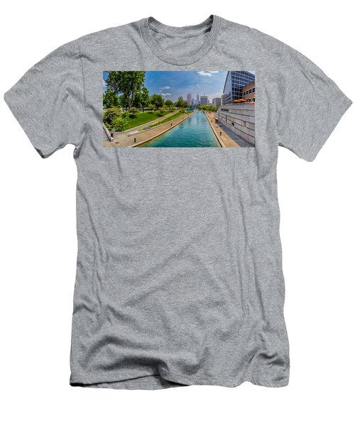 Indianapolis Skyline From The Canal Men's T-Shirt (Athletic Fit)