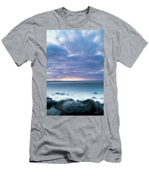Long Exposure Of The Surf Along Wailua Men's T-Shirt (Athletic Fit)