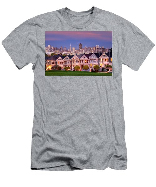 Men's T-Shirt (Athletic Fit) featuring the photograph Painted Ladies by Brian Jannsen