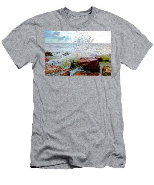 Quintana Jetty Men's T-Shirt (Slim Fit) by Savannah Gibbs