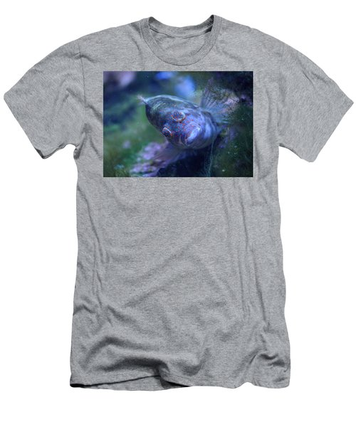 Men's T-Shirt (Slim Fit) featuring the photograph Redspotted Hawkfish  by Savannah Gibbs