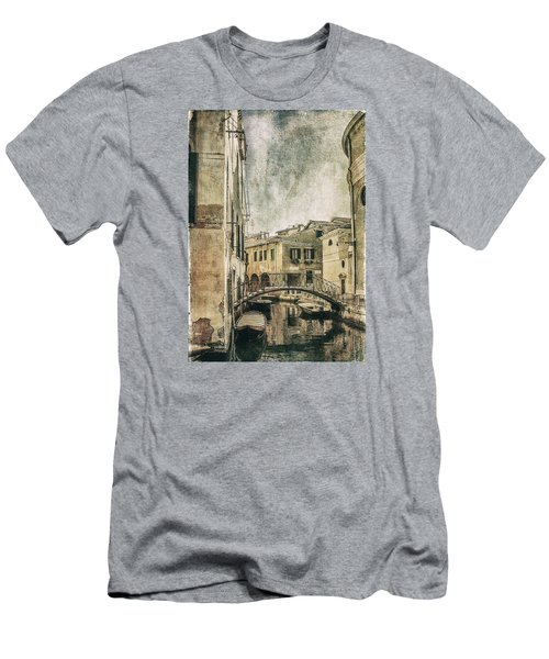 Venice Back In Time Men's T-Shirt (Slim Fit) by Julie Palencia