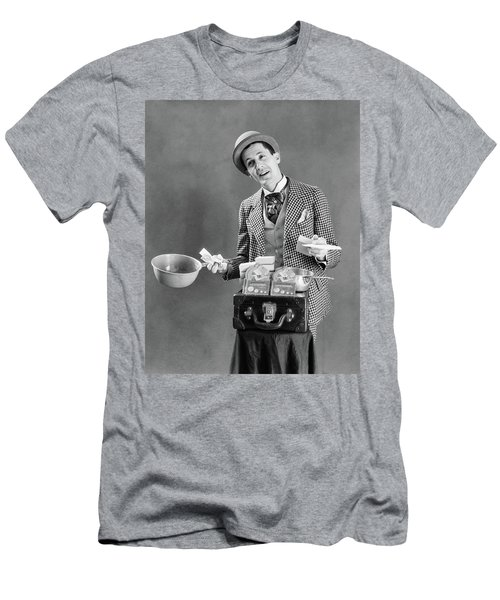 1910s 1920s Character Con Man Barker Men's T-Shirt (Athletic Fit)