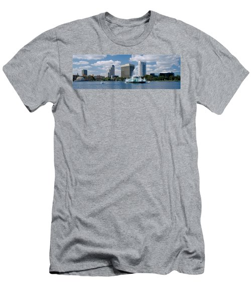 Buildings At The Waterfront, Lake Eola Men's T-Shirt (Athletic Fit)