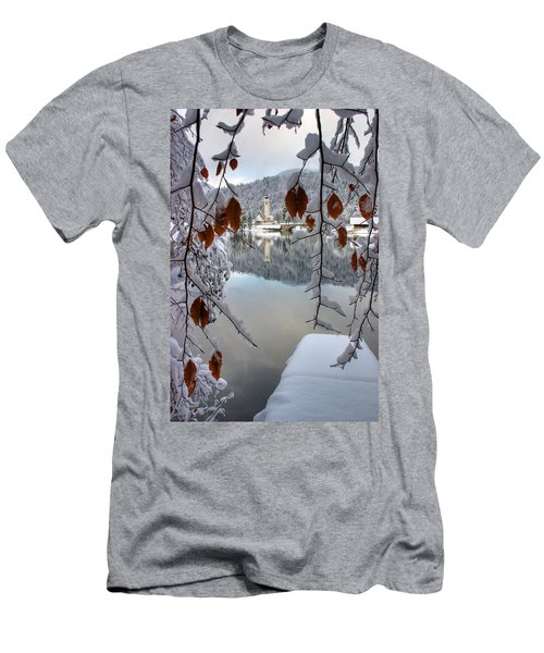 Lake Bohinj In Winter Men's T-Shirt (Athletic Fit)
