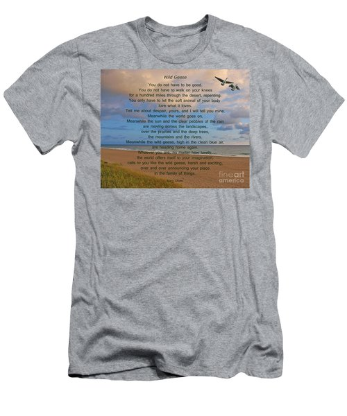 40- Wild Geese Mary Oliver Men's T-Shirt (Athletic Fit)