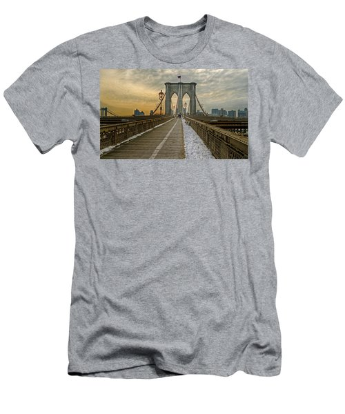 Men's T-Shirt (Slim Fit) featuring the photograph Brooklyn Bridge by Jerry Gammon