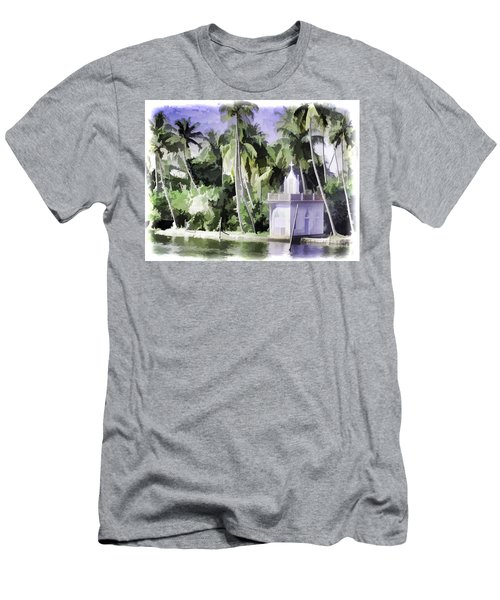 Church Located Next To A Canal Men's T-Shirt (Athletic Fit)