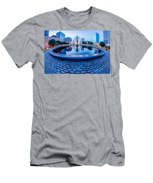 St. Louis Downtown Skyline Buildings At Night Men's T-Shirt (Athletic Fit)