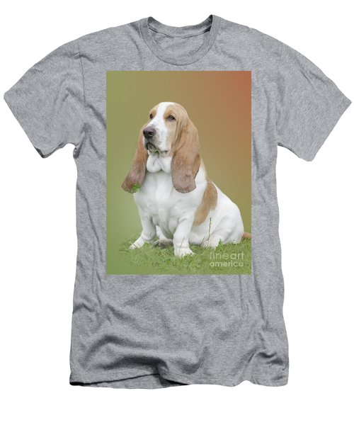 A Basset Hound Portrait Men's T-Shirt (Athletic Fit)