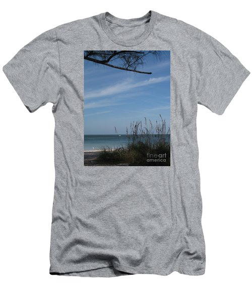 Men's T-Shirt (Slim Fit) featuring the photograph A Beautiful Day At A Florida Beach by Christiane Schulze Art And Photography