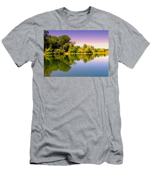 A Beautiful Day Reflected Men's T-Shirt (Slim Fit) by Joyce Dickens